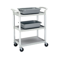 Cambro BC331KD110 Service Cart, open design, (3) shelves, shelf size approximately 15-7/8