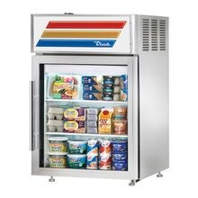 TRUE GDM-05-S-HC-LD Countertop Refrigerated Merchandiser, (2) shelves, stainless steel exterior, white aluminum interior with stainless steel floor