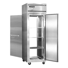 Continental 1F-PT Freezer, pass-thru, one-section, self-contained refrigeration, stainless steel front, aluminum interior & ends, standard depth