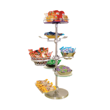 BSI ZS-100K-16 ZSpace Large Snack Display Kit #16, includes (4) EZ-Clamps, (1) medium Flexi-Ring, (1) large Flexi-Rings (2) aluminum trays, (2)