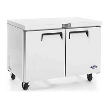 Atosa MGF8406 Atosa Undercounter Reach-In Freezer, two-section, self-contained refrigeration, 12.0 cu. ft. capacity