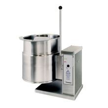 Cleveland KET12T Kettle, electric, countertop , tilting, 12-gallon capacity, 2/3 steam jacket design, stainless steel exterior finish, lever-type