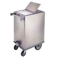 Lakeside 240 Ice Bin, mobile, 125 lb. capacity, stainless steel with hinged cover, bin attached to base plate, (2) 5