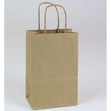 BAG PAPER BROWN WITH HANDLE 5.5X3.25X8.375 (250)
