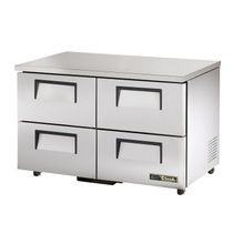 TRUE TUC-48D-4-ADA-HC ADA Compliant Undercounter Refrigerator, 33-38 F, stainless steel top & sides, (4) drawers each accommodate (1) 12x18x6 food