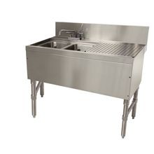 Advance Tabco PRB-24-32L Prestige Underbar Sink Unit, 2-compartment, 36