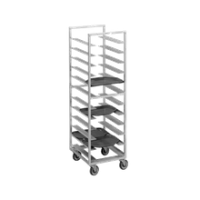 Channel T447A Cafeteria Tray Rack, mobile, single section, 23