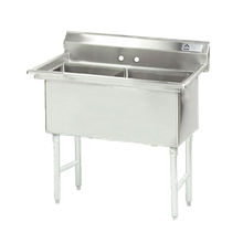 Advance Tabco FS-2-1818 Fabricated NSF Sink, 2-compartment, no drainboards, bowl size 18