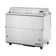 TRUE TMC-49-S-DS-HC Mobile Milk Cooler, FORCED-AIR, (12) crates, DUAL SIDED stainless steel drop front/hold-open flip-up lids, locks, 33-38F