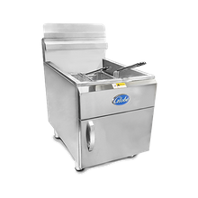 Globe GF30PG Fryer, Gas, Liquid Propane, countertop, single pot, 30-lb. fat capacity, 13,250 BTU per burner, stainless steel construction, stainless