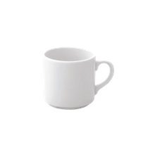 Villeroy & Boch APRARN304043020 Coffee Cup, 6-3/4 oz., stackable, embossed, fine porcelain, white, Lily (12 ea/cs)