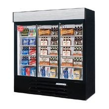 Beverage Air LV66Y-1-W-LED LumaVue Refrigerated Merchandiser, reach-in, three-section, (3) sliding glass doors, 70 cu. ft. capacity, mechanical