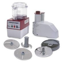 Robot Coupe R2 DICE CLR Combination Food Processor, 3 qt. clear polycarbonate bowl with handle, vegetable prep attachment with external ejection
