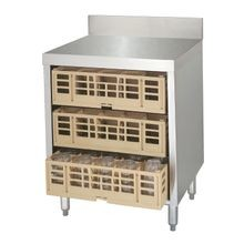 Advance Tabco CRCR-24-X Underbar Basics Closed Glass Rack Cabinet, 24
