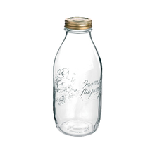 Quattro Stagioni 'Milk' Bottles, with lid, 33-3/4 ounce capacity, Bormioli Rocco, 1 dozen jars