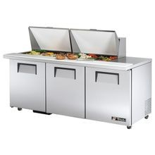 TRUE TSSU-72-24M-B-ST-ADA-HC ADA Compliant Mega Top Sandwich/Salad Unit, (24) 1/6 (4