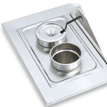 Two-opening stainless steel adapter plate for 7 -quart insets, Vollrath 19192
