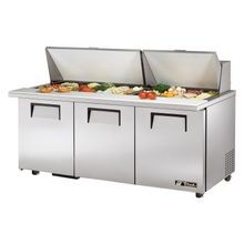 TRUE TSSU-72-30M-B-ST-ADA-HC ADA Compliant Mega Top Sandwich/Salad Unit, (30) 1/6 (4