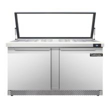 Continental SW60-24M-HGL-FB Mighty Top Sandwich Unit with Hinged Glass Lid, Front Breather, 60