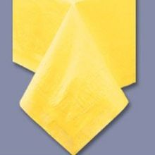 TABLECOVER 54X108 YELLOW POLY/TISSUE (25)
