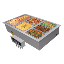 Hatco HWBI-3 Drop-In Modular/Ganged Heated Well, (3) full size pan capacity, insulated, top mounted, remote thermostat with separate power switch