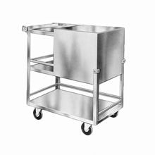 Lakeside 230 Ice Bin, mobile, 50 lb. capacity, stainless steel with hinged cover, bin attached to base plate, 4