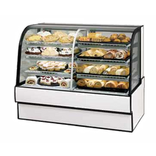 Federal CGR5042DZ Curved Glass Vertical Dual Zone Bakery Case Refrigerated Left Non-Refrigerated Right, 50