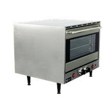 Holman Electric Convection Oven Countertop, 175-500F, 0-120 min. timer or continuously on. (3) removable wire racks, fits (3) 1/2 size pans.