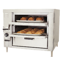 Baker's Pride GP-61 HearthBake Series Oven, countertop, gas, pizza/bake, double compartment two 30