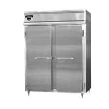 Continental DL2RFS Designer Line Refrigerator/Freezer, reach-in, two-section, self-contained refrigeration, aluminum exterior & interior, stainless