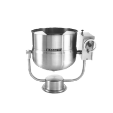 Blodgett KPT-60DS Tilting Kettle, direct steam, 60 gallon capacity, support arm, hand crank, manual tilt, reinforced rim, 2/3 steam jacketed body