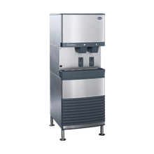 Follett 50FB425A-S Symphony Plus Ice & Water Dispenser, freestanding, SensorSAFE dispense, removable ice machine in base, automatic load, Chewblet
