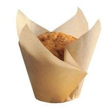 BAKE CUP TULIP LARGE NATURAL GREASEPROOF 2.25X2.75X4 (1000)