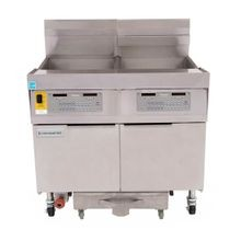 Frymaster FPLHD365 Fryer Battery, gas, (3) 100 lb. capacity each, built-in filtration, low flue temperature, thermo tube-type design, full frypots