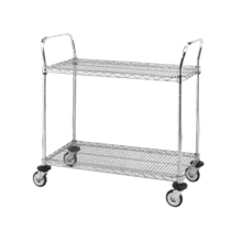 Metro MW604 MW Standard Duty Utility Cart, MW600 series (2) wire shelves, open base, shelf size 30