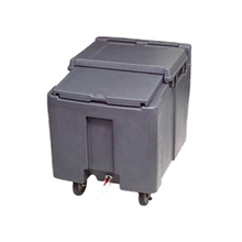 Follett ICS125L Cambro Ice Cart, 125 lb capacity, mobile, insulated, polyethylene, slide back lid, NSF