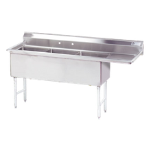Advance Tabco FS-3-2424-18R Fabricated NSF Sink, 3-compartment, 18