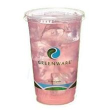 CUP CLEAR 12 OZ GREENWARE STOCK PRINT (1000)LID 10044275