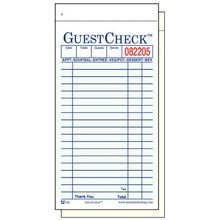 GUEST CHECK DUPLICATE 50/BOOK CARBONLESS 50/CASE (2500)
