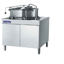 Cleveland KDM25T Kettle, direct steam, tilting, 25-gallon capacity, 2/3 steam jacket design, cabinet-type housing, stainless steel kettle & cabinet