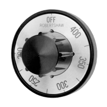 FMP 130-1061 Electric Thermostat Dial, 200 to 400 F temperature range, heavy duty, fits standard .187 dia. D-stem, universal four-way mounting