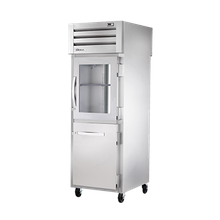 TRUE STR1RPT-1HG/1HS-1G-HC SPEC SERIES Pass-thru Refrigerator, one-section, stainless steel front & sides, (1) glass & (1) stainless steel half