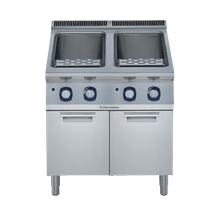 Electrolux 391202 (E9PCGH2MF2) Pasta Cooker, gas, (2) 10.5 gallon tanks, 66 lbs/hour capacity each, automatic starch removal, automatic low water