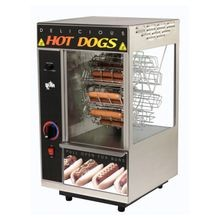 Star 174CBA Star Broil-O-Dog Hot Dog Broiler, 18 dogs & 12 buns capacity, cradle style, over & under hot dog broiler , built-in pull