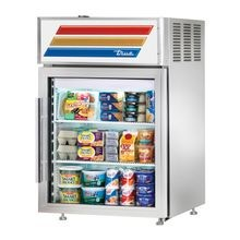 TRUE GDM-05PT-S-HC-LD Countertop Pass-thru Refrigerated Merchandiser, (2) shelves, stainless steel exterior, white aluminum interior with stainless