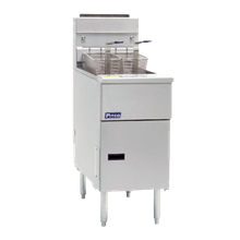 Pitco SG18-S Solstice Fryer, Gas, Floor Model, Full Frypot, 70-90 Lb. Oil Capacity, Millivolt Control Only, Stainless Steel Tank