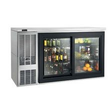 Perlick SDBS60 Sliding Door Refrigerated Back Bar Cabinet, two section, 60