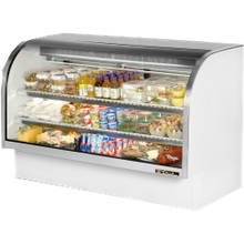 TRUE TCGG-72-LD Curved Glass Deli Case, 72-1/4