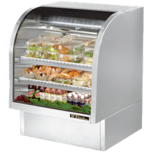 TRUE TCGG-36-S-LD Curved Glass Deli Case, 36-1/4