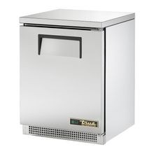 TRUE TUC-24-HC Undercounter Refrigerator, 33-38 F, stainless steel top & front, aluminum sides & finished back, (1) stainless steel door, (2)